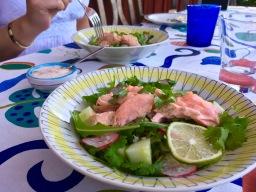 Salmon sallad